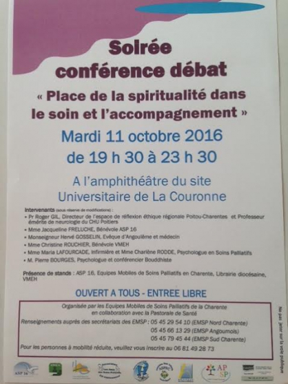 place de la spiritualité dans le soin et - Annonce gratuite marche.fr