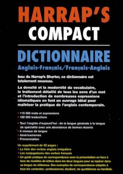 HARRAP'S COMPACT ANGLAIS-FRANCAIS