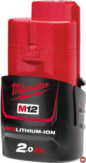 BATTERIE MILWAUKEE 12V 2Ah Red Li-Ion