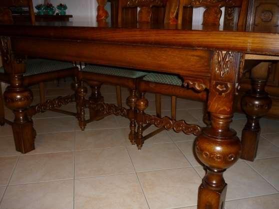 table en ch ne style hollandais avec cha perrecy les forges meubles d coration tables. Black Bedroom Furniture Sets. Home Design Ideas