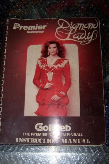 Petite Annonce : Documentation flipper diamond lady - Documentation originale pour flipper Diamond lady de Gottlieb en bon