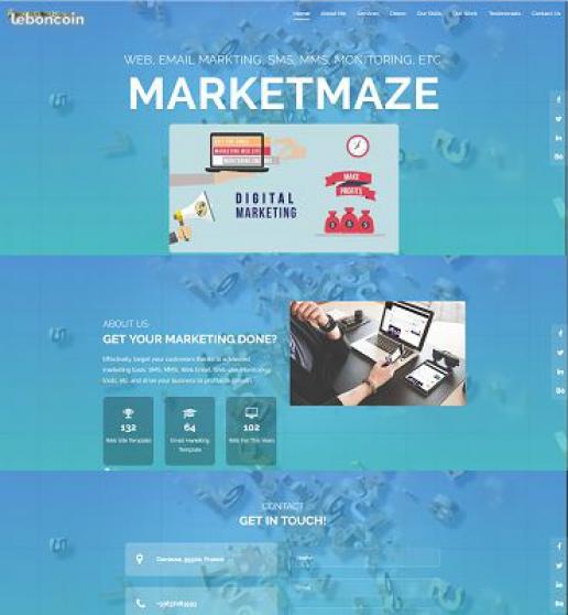 Annonce occasion, vente ou achat 'Développement des sites web et des Email'