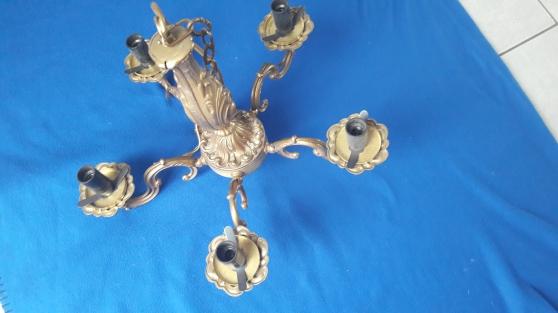 Lustre ancien bronze 5 branches