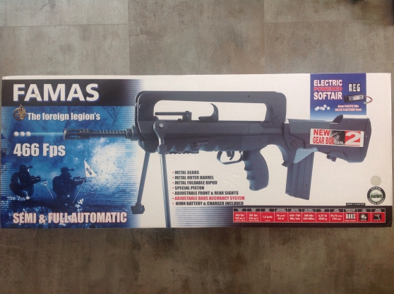 Annonce occasion, vente ou achat 'Famas airsoft Cybergun'
