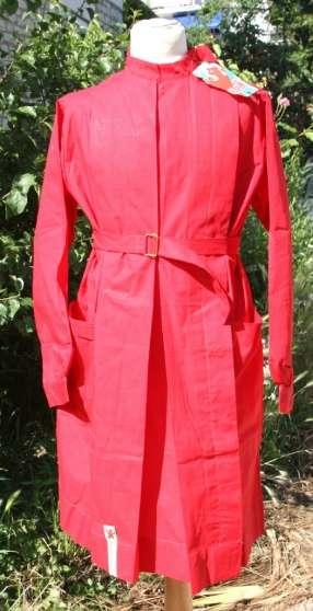 blouse vintage rouge coton ANIK neuve