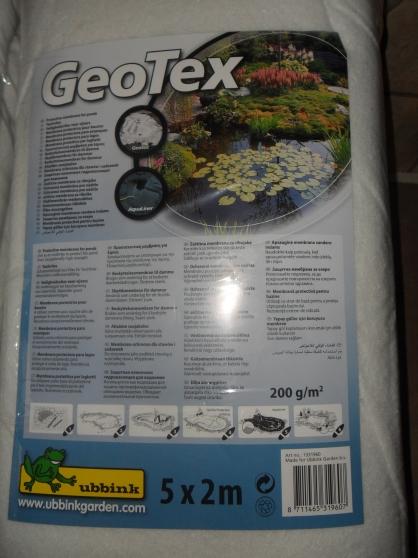 Géotextile pour bassin de jardin 10m2