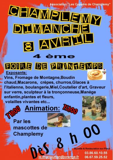 foire de printemps de champlemy - Annonce gratuite marche.fr