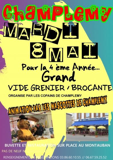 brocante / vide grenier du 8 mai - Annonce gratuite marche.fr