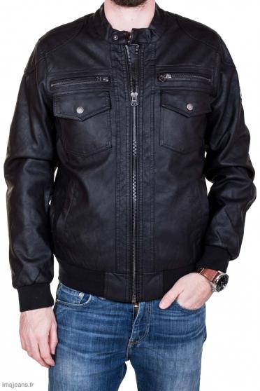 Annonce occasion, vente ou achat 'Veste Kaporal en simili-cuir Noire'
