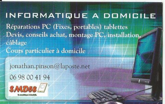 Annonce occasion, vente ou achat 'depannage informatique, cours domicile'
