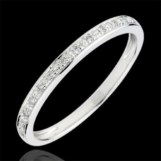 Alliance Eclats de diamant - or blanc 9