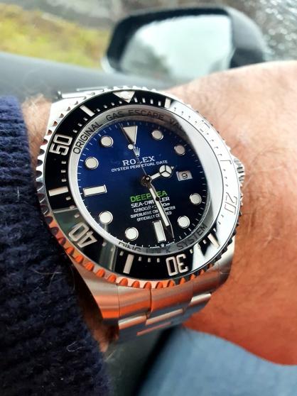 Réservé !! ROLEX DEEP-SEA BLUE 126660 AV