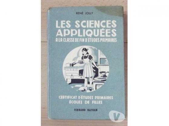 Annonce occasion, vente ou achat 'Les sciences appliquées'
