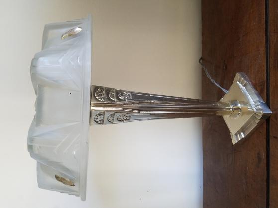 Lampe ART DECO argent verre Muller 1925