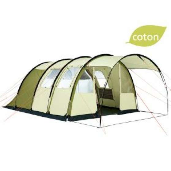 toile de tente tunnel trigano louxor 5 p caravanes camping car equipement de camping la. Black Bedroom Furniture Sets. Home Design Ideas
