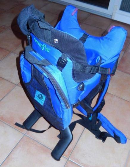 Porte bébé dorsal Evenflo bleu - Photo 2