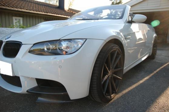 belle BMW M3 diesel,blanc/noir manuel 20