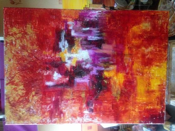 tableau peint à l'huile