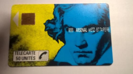 Petite Annonce : Carte telephonique  f 48 - Cartes téléphonique  F48 Beethoven  puce  gem 1    tirage 10 000  bon