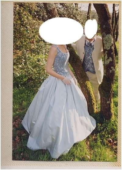 Robe de mariée bleue et grise FVL