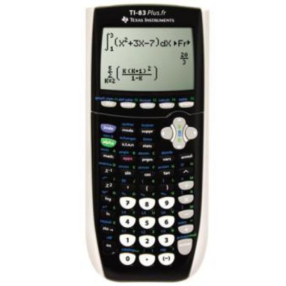 Calculatrice Ti 83+ noire