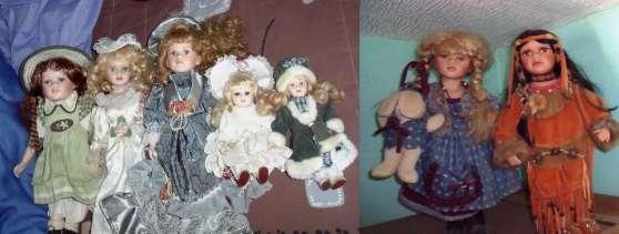 Lot de 7 poupées en porcelaines(ou seul)