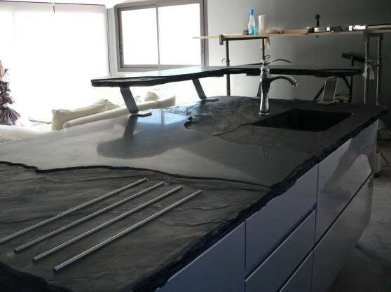 plan de travail en ardoise fibre optique mandelieu la. Black Bedroom Furniture Sets. Home Design Ideas