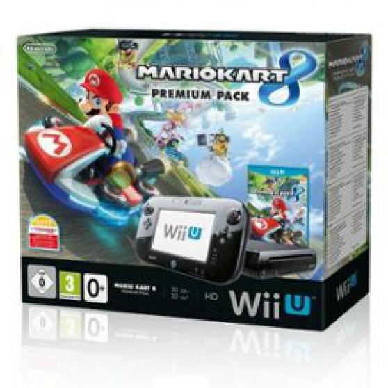 Wii U 32go Noire + Mario Kart 8 Premium