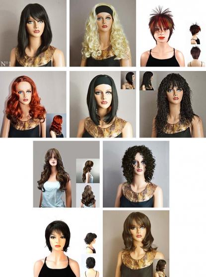 Lot 10 perruques neuves modernes et sexy