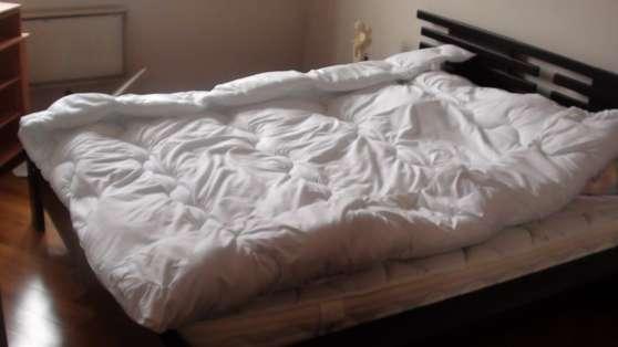 lit 160 200 orys 2 chevets 2 tablettes meubles. Black Bedroom Furniture Sets. Home Design Ideas