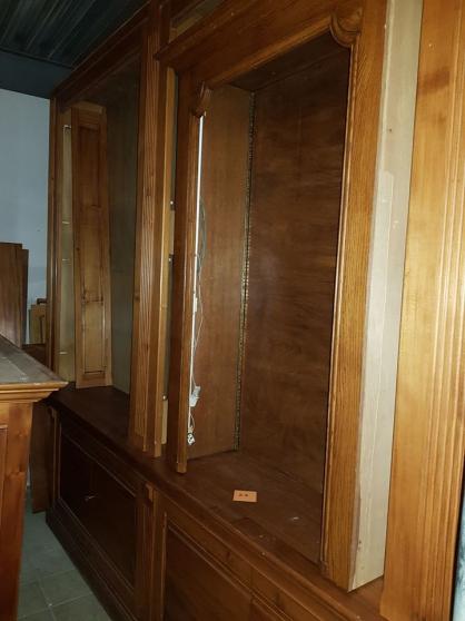 Très grande double bibliothèque bois