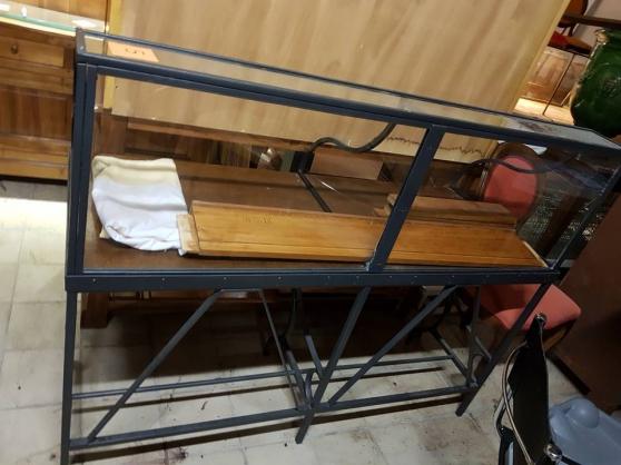 Table bois et fer forgé