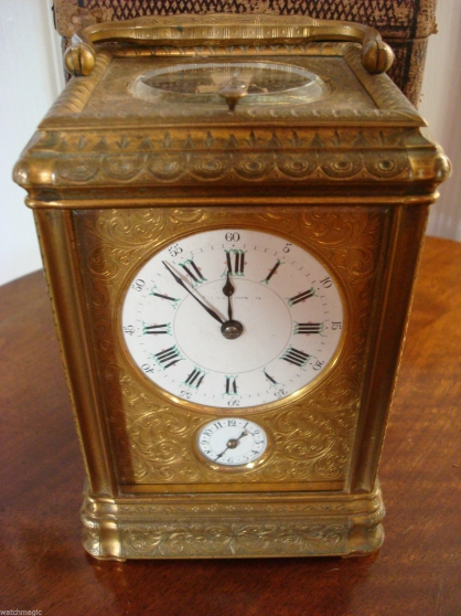 Horloge Victorian Drocourt Engraved Gorg