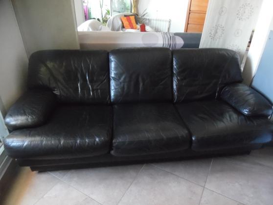 salon cuir 1 canapé 3 places 2 fauteuils