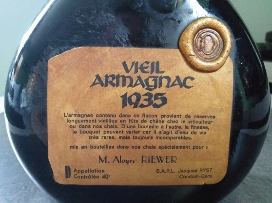 Vends Armagnac Ryst 1935 - Photo 4