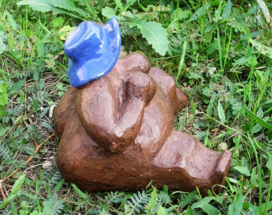 Sculpture céramique « Femme Assise » - Photo 3