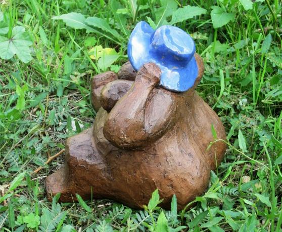 Sculpture céramique « Femme Assise » - Photo 4
