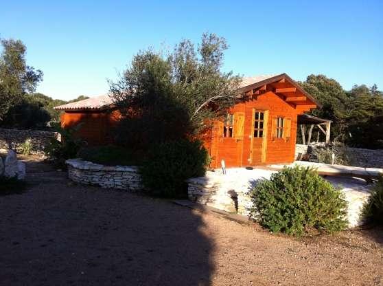 Chalet bois en kit bonifacio immobilier a vendre mobil home chalets bonifacio - Chalet de jardin occasion a vendre ...