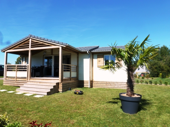 Chalet prestige de 47m tout quip immobilier a vendre mobil home chalets granville - Chalet de jardin occasion a vendre ...