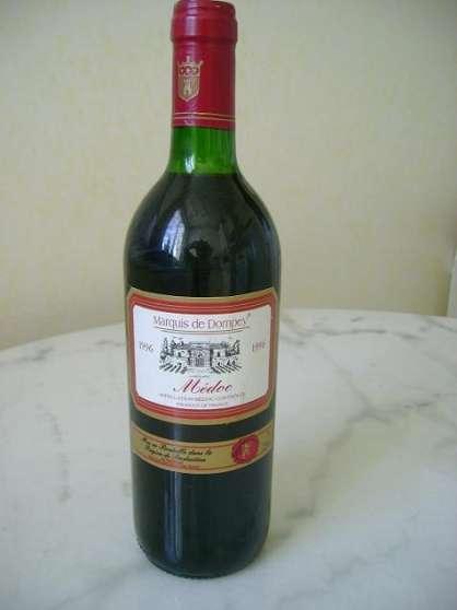 2 bouteilles MEDOC millésime 1996