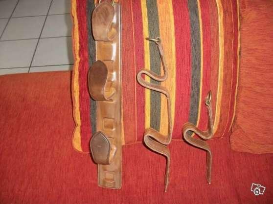 Porte fusil en cuir blanquefort sports chasse for Meuble porte fusil