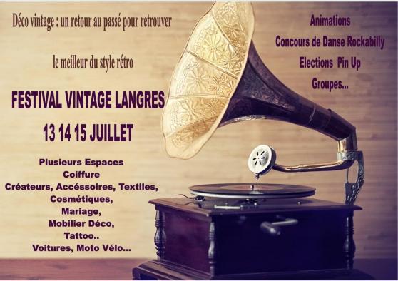Annonce occasion, vente ou achat 'Festival Vintage Langres en juillet'