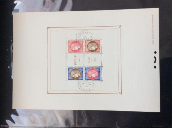timbre - bloc PEXIP - N° 3 - 1937 -