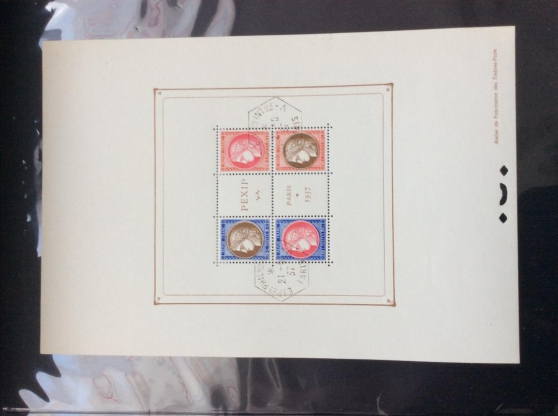 Annonce occasion, vente ou achat 'timbre - bloc PEXIP - N° 3 - 1937 -'
