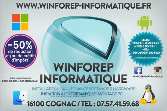Annonce occasion, vente ou achat 'WinForep Informatique (Dépannage)'