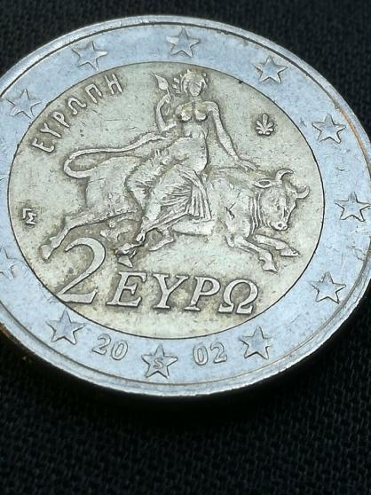 2 pièces en euro 2002 Grèce avec S. - Photo 3