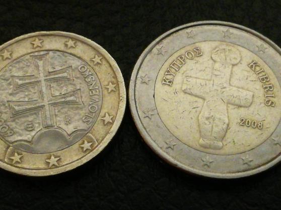 2 pièces en euros différentes. - Photo 3