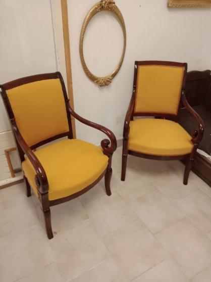 Paire de fauteuils crosse d'époque 19éme