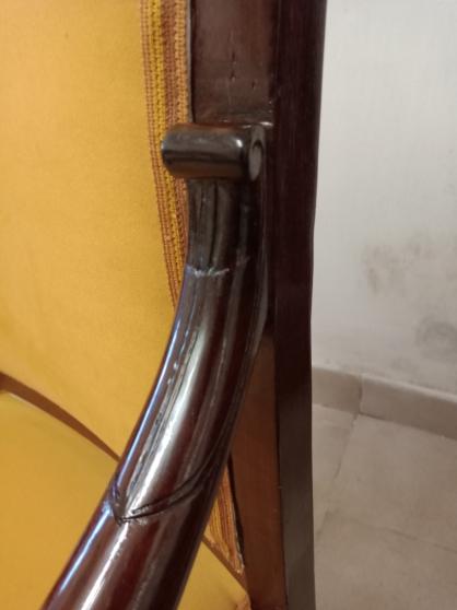 Paire de fauteuils crosse d\'époque 19éme - Photo 4