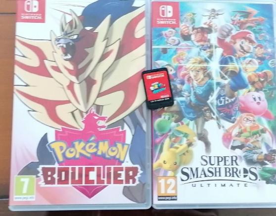 Nintendo switch +3 jeux Mario - Photo 2